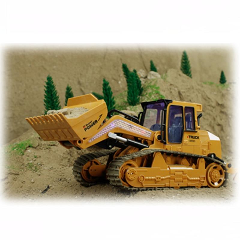 RC Truck 6CH Bulldozer Caterpillar Tractor Simulasi Kawalan Jauh - Mainan kawalan radio - Foto 3