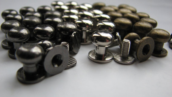 Screw In Button Studs Lot Of 40, Pacifiers, Small, Medium, Large, Extra Large, Silver, Bronze, Gun Metal