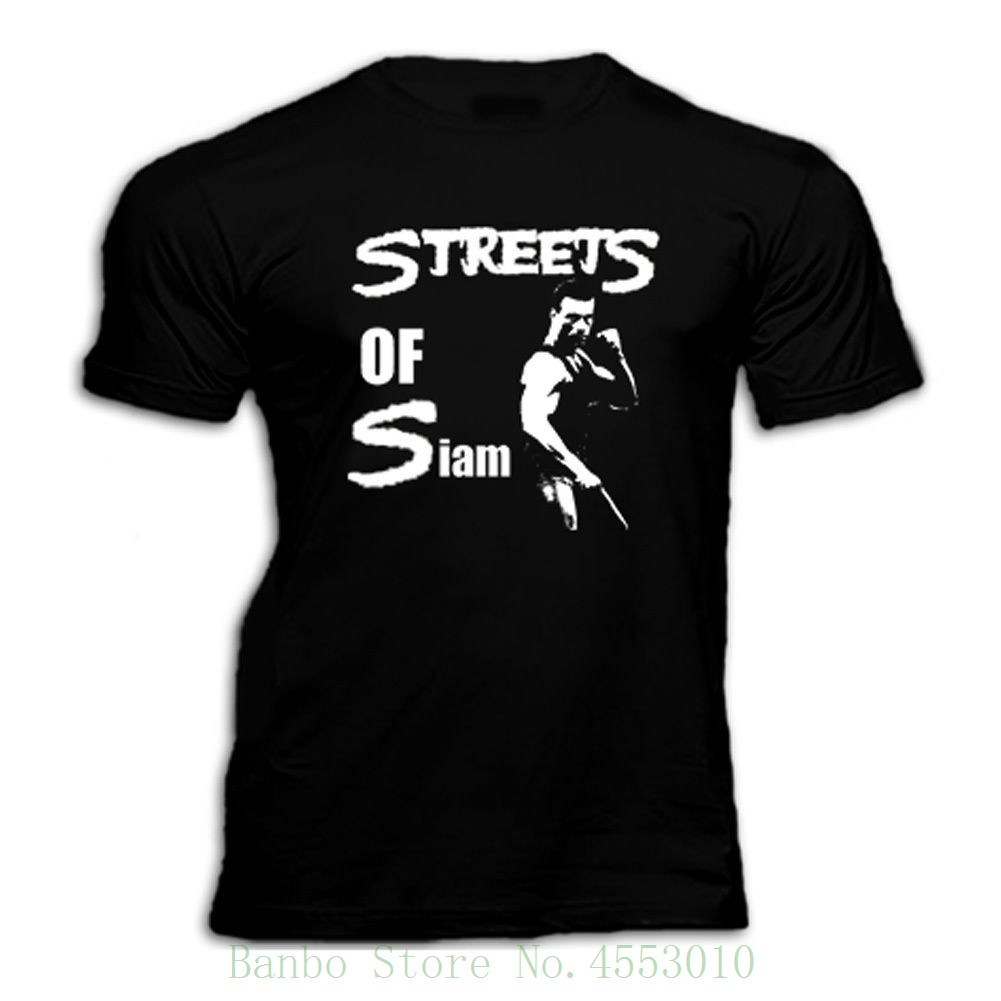 Van Damme Bloodsport Kickboxer Streets Of Siam 80s Movie T Shirt Style Short Sleeve Print Tee Shirt image