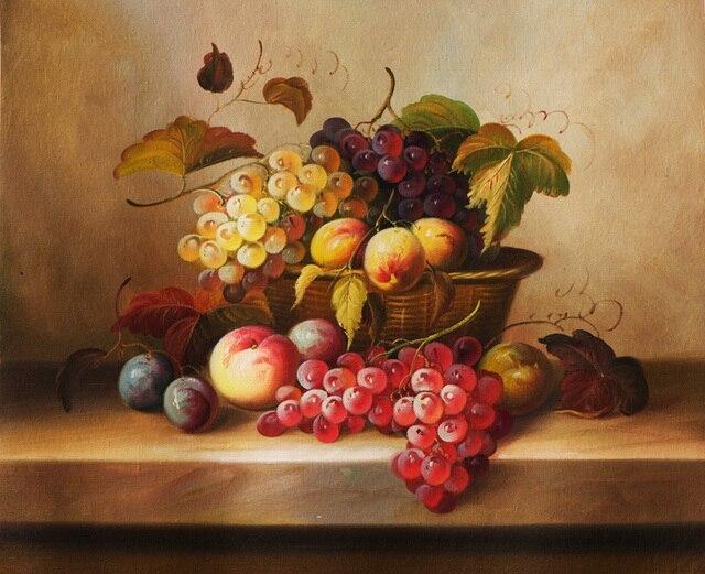 Envío Gratis clásico cesta de fruta de la uva todavía lona ...