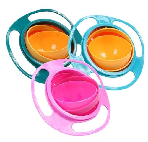 Universal Gyro Bowl Practical Design Children Rotary Balance Bowl Umbrella Bowl 360 Rotate Spill-Proof Bowl Housekeeping Toys