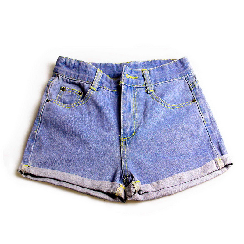 Blue Crimping Denim   Shorts   For Women 2018 Summer New Brand Trendy Slim Casual Plus Size Womens High Waist   Shorts