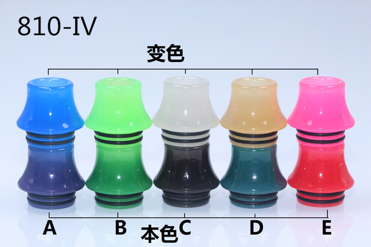 YUHETEC 810 510 Principal color Resin Drip tip  810 Mouth Dropper 1PCS  Wide Bore Mouthpieces 510 Drip tips