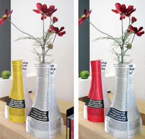 Vazu Modern Flower Vase Art Design Magazine Home Decor Decorative