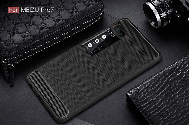 carbon fiber silicon case meizu pro 7 (10)