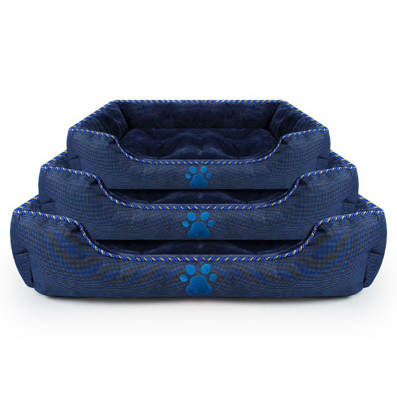 Sommeil chaud chien lits tapis pour petits grands chiens maison canapé chenil solide carré chiens chats imperméable lavable lits tapis fournitures