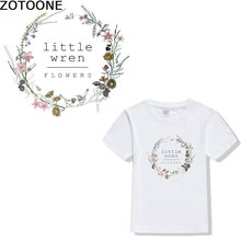 ZOTOONE Clothing Sticker Letter Printing Patterns DIY Hot Transfer Stamping T-shirt Patch  Womens Wear thermal press D