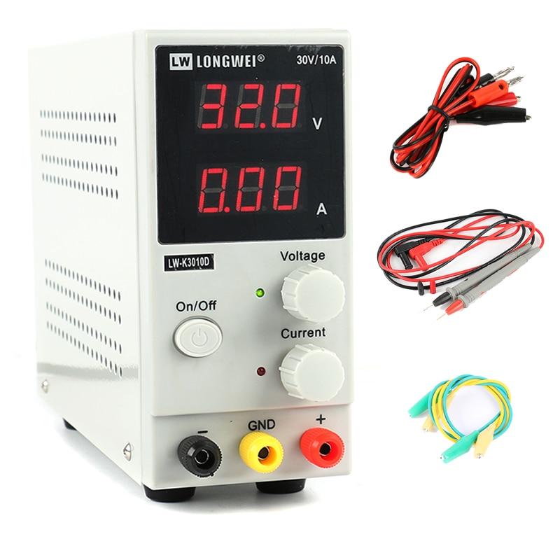 Upgrade LW 3010D 30V 10A Mini Adjustable Digital DC Power Supply Laboratory Switching Power Supply 110V 220V EU/AU/US Plug-in Switching Power Supply from Home Improvement
