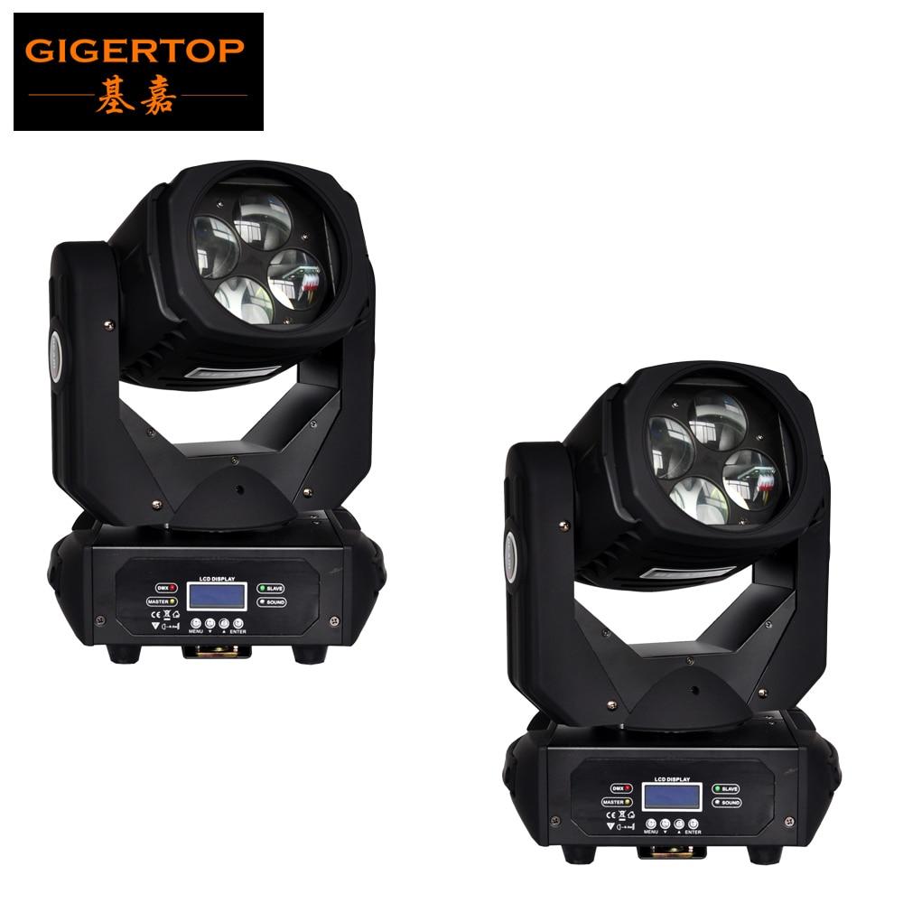 Alta calidad 2 unids / lote profesional LED Super Beam luz principal móvil 4 * 25W COB Color blanco Led doble 4 cabeza giratoria lente Disco Dj