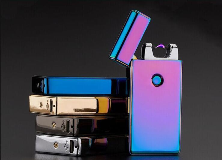 1pcs usb font b electronic b font font b cigarette b font lighter charging ultra thin