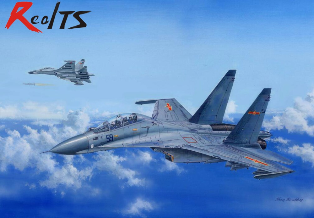 RealTS HobbyBoss 81714 1/48 Russian Su-30MKK Flanker G Military Pattern Fighter Model su 27 fighter beginning of story part 1