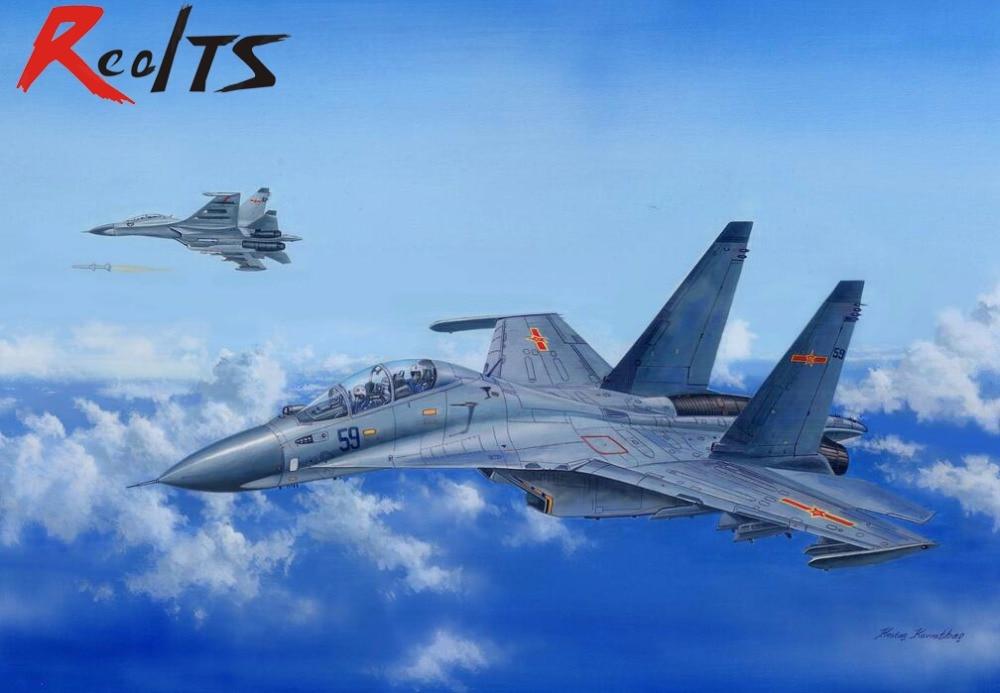 RealTS HobbyBoss 81714 1/48 Russian Su-30MKK Flanker G Military Pattern Fighter Model цена