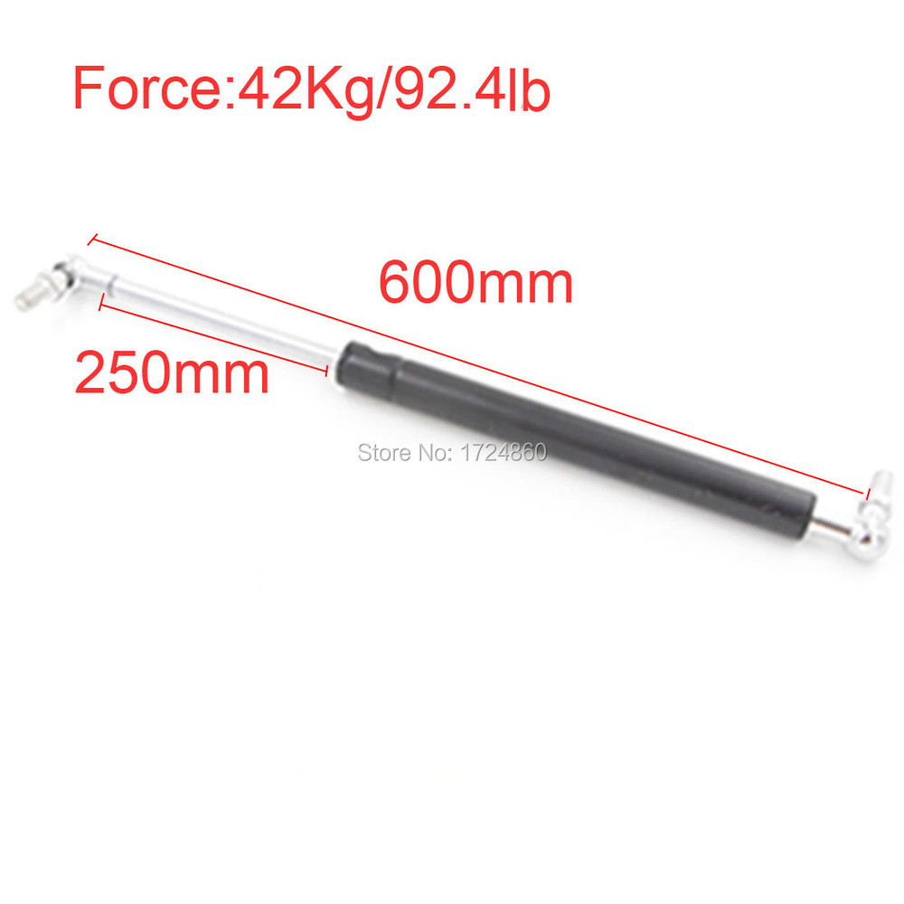 Auto Gas Springs for car 42KG/92.4lb Force Lift Truck Lid Support 250mm Stroke Auto Gas Spring Damper 600mm 23.6 free shipping500mm central distance 200mm stroke 80 to 1000n force pneumatic auto gas spring lift prop gas spring damper