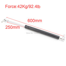 Auto Gas Springs for car 42KG/92.4lb Force Lift Truck Lid Support 250mm Stroke Auto Gas Spring Damper 600mm 23.6