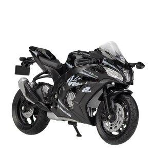 Image 2 - Welly 1:18 Kawasaki NINJA ZX10 RR Z1000R 2017 Diecast motocykl