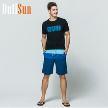 Oufisun Floral Summer Colorful Board Shorts Men Beach Swimsuit Short Male Bermudas