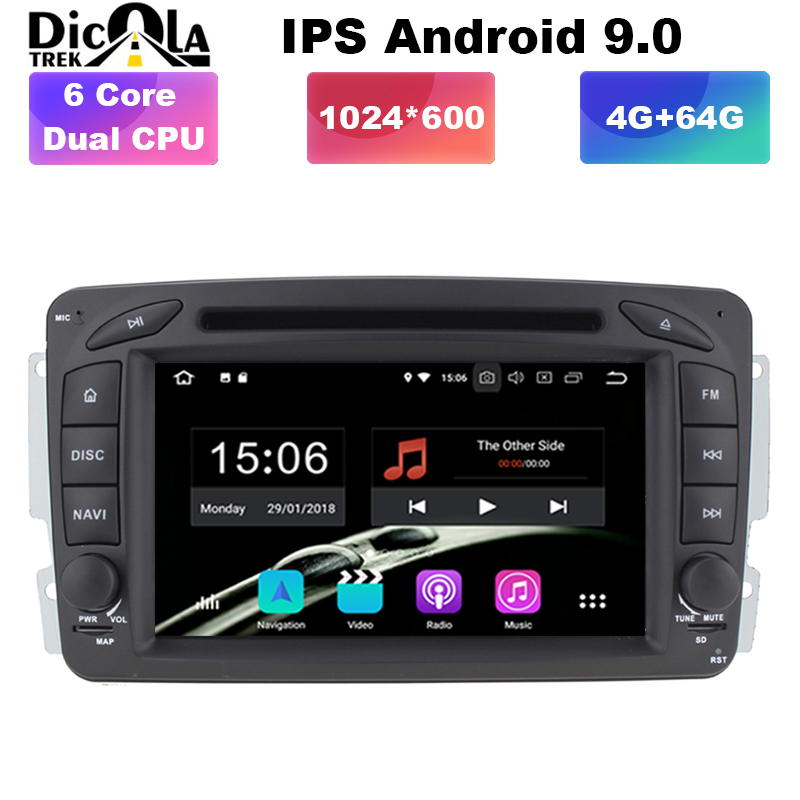 7 IPS Android 9.0 In Dash Car Stereo Redio DVD Player for Mercedes Benz/W209/W203/ML/W163/Viano/W639/Vito GPS Navigation Unit7 IPS Android 9.0 In Dash Car Stereo Redio DVD Player for Mercedes Benz/W209/W203/ML/W163/Viano/W639/Vito GPS Navigation Unit