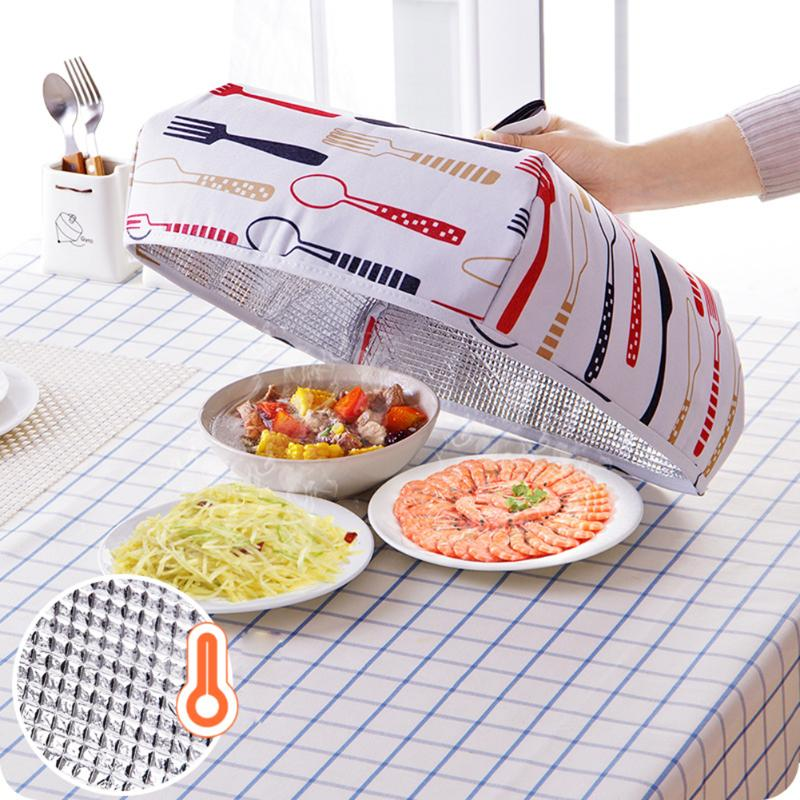 Us 1 84 6 Off Foldable Food Covers Keep Warm Hot Aluminum Foil Food Cover Dishes Insulation Useful Kitchen Gadgets Accessories In Other Kitchen