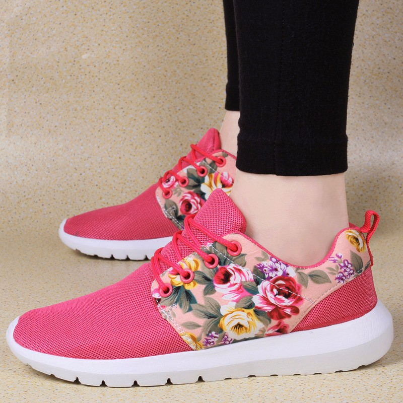 KUYUPP Fashion Breathable Print Flower Women Trainers Casual Shoes 2016 Summer Mesh Low Top Shoes Zapatillas Deportivas YD95 (30)