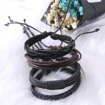 Bracelets & Bangles mens leather bracelets Pulseira Masculina Jewelry Charm Bileklik Pulseiras Boyfriend Girlfriend 2