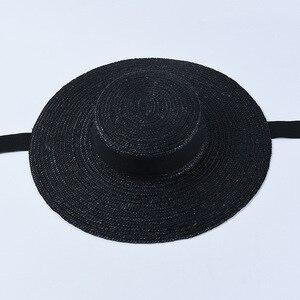 Image 4 - USPOP ฤดูร้อนหมวกผู้หญิงหมวกภาษาฝรั่งเศสคำสไตล์กว้าง brim หมวก Casual ธรรมชาติข้าวสาลีฟางหมวก LACE Up หมวกชายหาด Shade