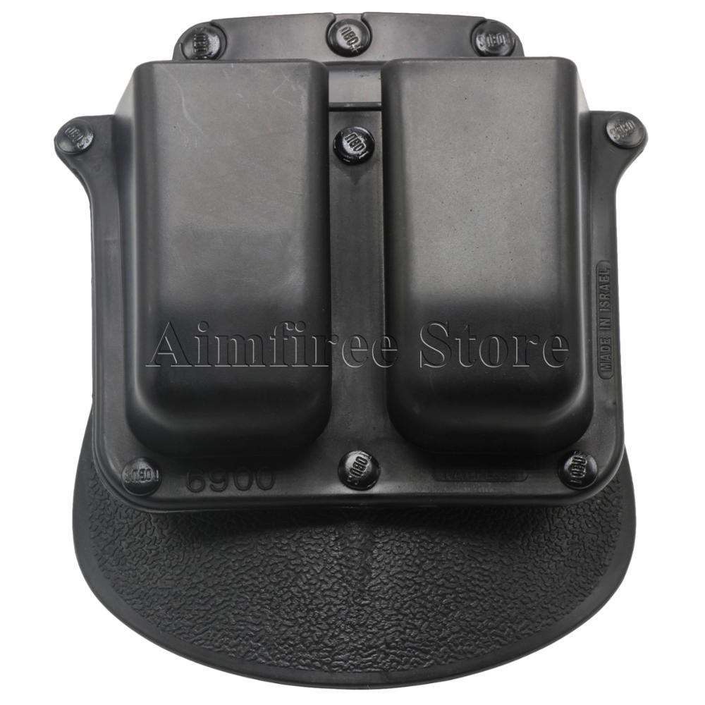 купить Military 6900 Paddle Double Magazine Pouch Holster For Glock 9mm .40 Cal Mags Hunting Accessories по цене 406.63 рублей