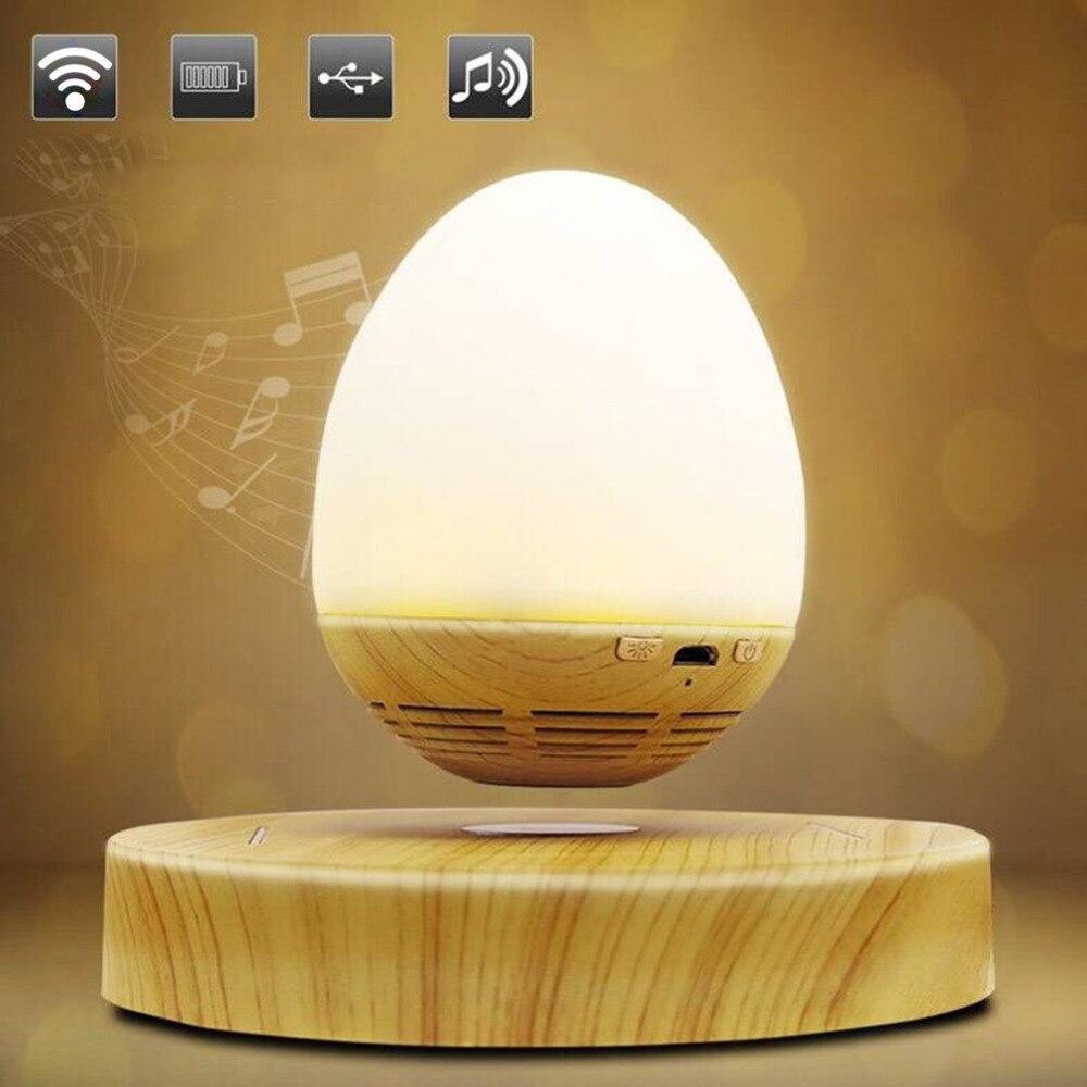 2018 NEW HOT Multi-functional Egg Shape USB Charging LED Night Light Innovative Magnetic Levitation Wireless Bluetooth Speaker smart sensor ufo shape usb charging bedside led night light