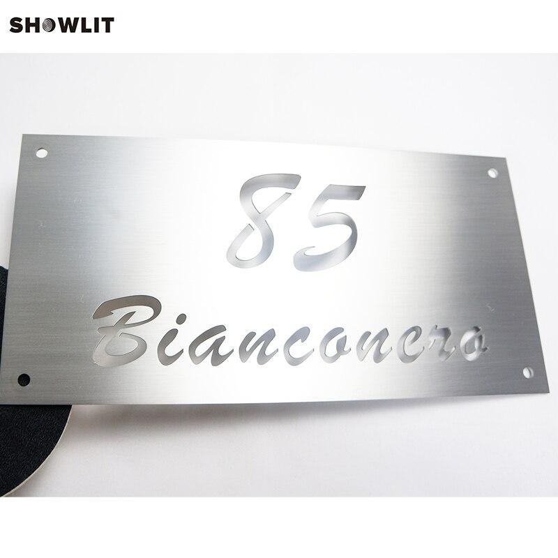 Screws Mounted Brushed Metal 15*30cm Custom Name SignsScrews Mounted Brushed Metal 15*30cm Custom Name Signs