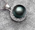 huij 004906  9-10mm black tahitian pearl pendant necklace s925