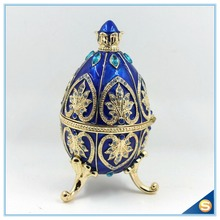 New Arrival Faberge Easter Egg Trinket Box Figurine Home Display Vintage Retro Russia Egg Magnet Craft