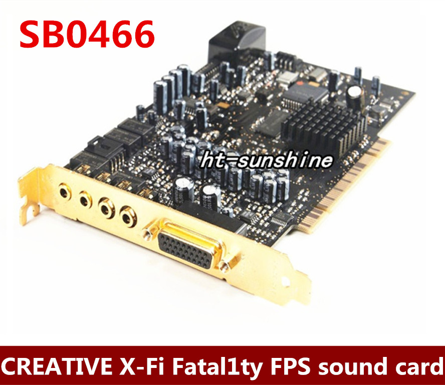 Original Creative X-Fi Fatal1ty FPS SB0466 64M 7.1 PCI Sound Card