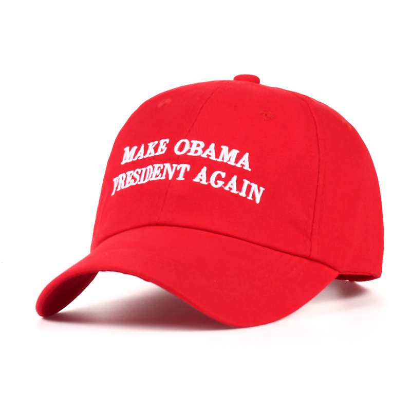 2017 new Make Obama President Again Dad Hat men women Cotton Baseball Cap Unstructured New - Red 2017 fashion papi unstructured baseball dad hat cap new men women cotton adjustable baseball cap black