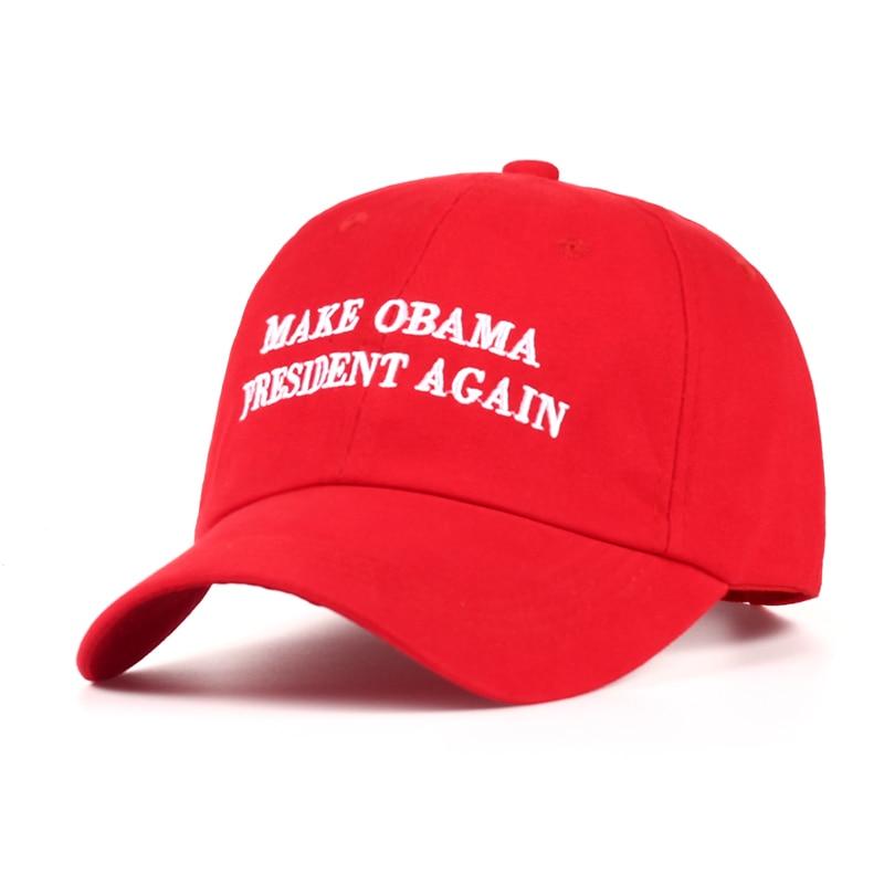 2017 Neue Machen Obama Präsident Wieder Papa Hut Männer Frauen Baumwolle Baseball Cap Unstrukturierten Neue-rot