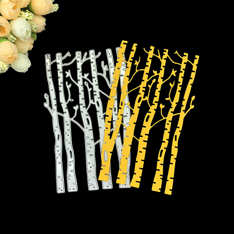 Flower Tree Landscape Riverside Accessories Metal Cutting Dies DIY Scrapbooking
