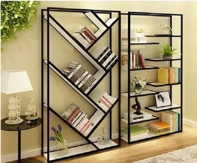 Factory direct American vintage wrought iron wood jewelry display shelf  bookcase shelf wall panels