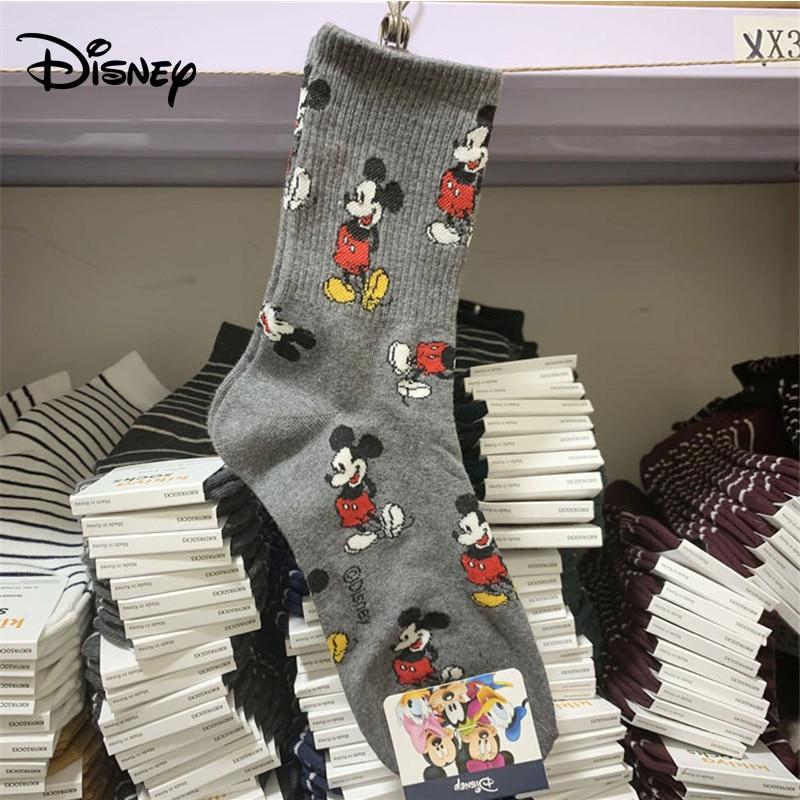 Disney Adult Socks Mickey Mouse Sweet Socks Adult Fashion Wild Thread Cotton Socks Ladies
