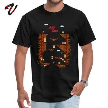 Alex Kidd in Miracle World-camisetas populares para adultos, Camiseta de cuello redondo...