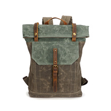 2017 Luxury Brand Men Bags Male Vintage Canvas Travel School Backpack 16 Inches