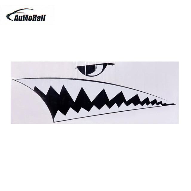 Aumohall 2pcs Car Body Diy Shark Teeth Decal Shark Mouth