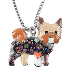 Yorkie Dog Choker Necklace