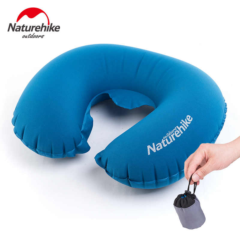 Nature randonnée promotion Portable U forme oreiller gonflable sommeil voyage coussin gonflable cou oreiller protecteur avion