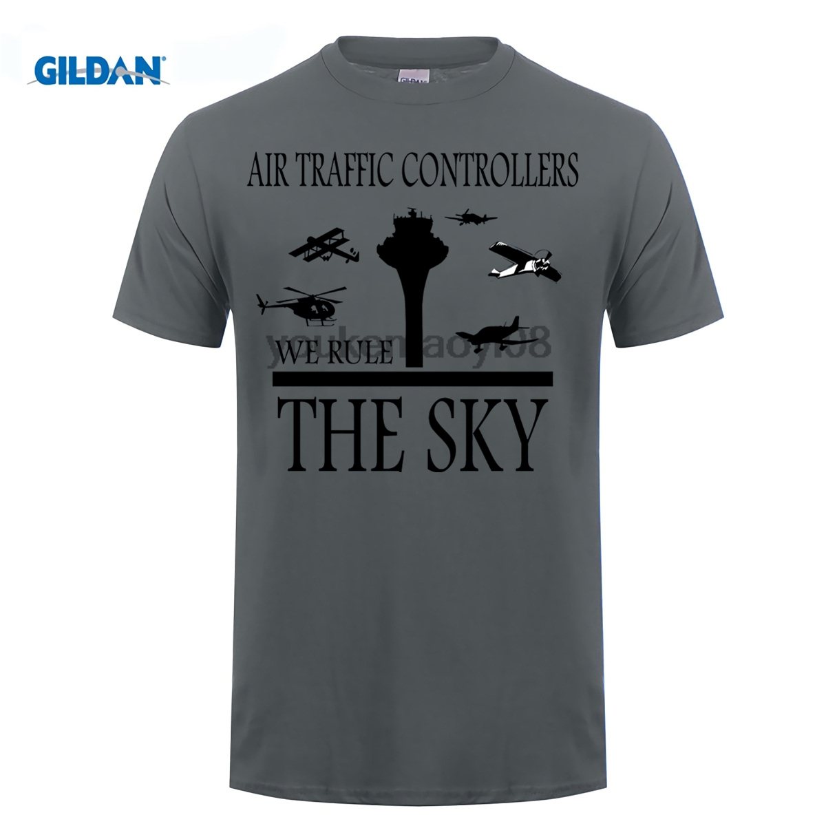 GILDAN 100% cotton O-neck printed T-shirt Aviation Air Traffic Controller ATC T-Shirt ...