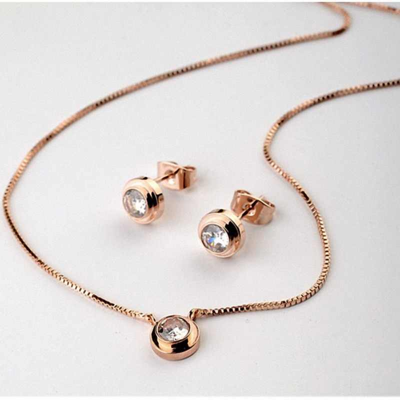 New Sale Brand TracysWing Genuine austrian Crystal   gold Color Jewelry sets for women  Necklace Earrings #RG12481