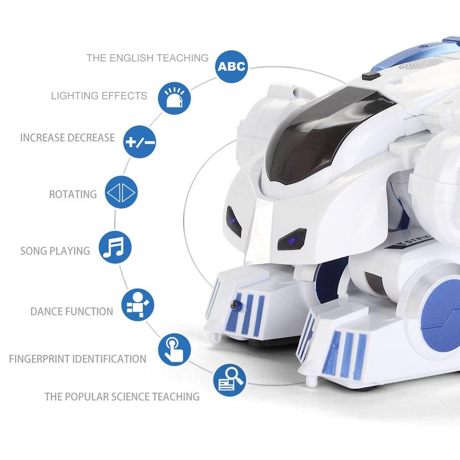 HUIQIBAO игрушки Деформация Интеллектуальный RC робот с музыкой танец электронный умный пульт дистанционного управления игрушки для детей пода... - 4