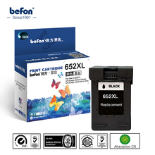 befon Compatible 652XL Black Ink Cartridge Replacement for HP 652 for Deskjet 1115 1118 2135 2136 2138 3635 3636 3638 3838 4536