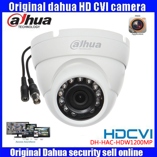HD1080p Dahua HDCVI Camera 2MP DH-HAC-HDW1200M HDCVI IR Dome   Security Camera CCTVIR distance 30m HAC-HDW1200M dh hac hfw2221r z ire6 dahua original hd 1080p infrared night vision security camera ip67 audio cctv camera hac hfw2221r z ire6