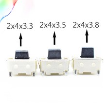 50Pcs Free shopping 2x4 2*4*3.5 MM Micro SMD Tact Switch Side Button Switch MP3 MP4 MP5 Tablet PC #DSC0039(China)
