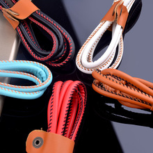 Micro USB Cable 1M Premium Leather Braided Cable for Samsung