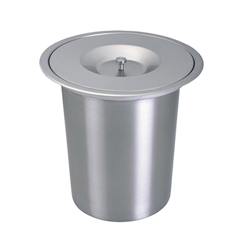 Poubelle en acier inoxydable 8L poubelle encastrée encastrée à encastrer poubelle écologique poubelle Invisible pour barre de cuisine poubelles