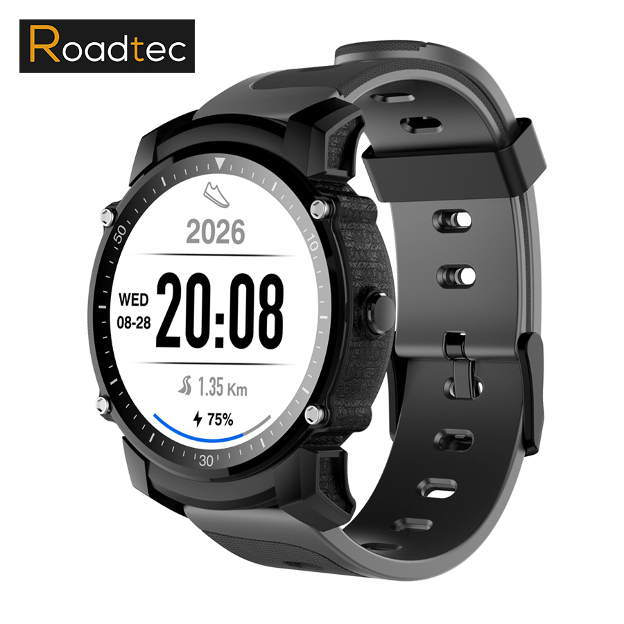 ROADTEC Smart Watch Men Women GPS Sports Fitness Tracker Bluetooth Heart Rate Monitor FS08 Wristwatch Clock for Android IOS ezon gps hrm heart rate monitor sports hiking training fitness watch calories pedometer bluetooth 4 0 smart sports watch t033